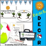 Beach Classroom Organization and Room Decor
