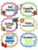 Beach Classroom Supply Labels