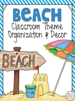 Beach Classroom Theme EDITABLE Decor