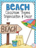 Beach Classroom Theme EDITABLE Decor