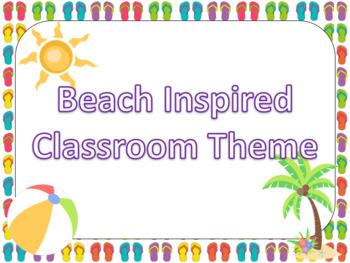 Beach Classroom Theme (Growing Bundle)