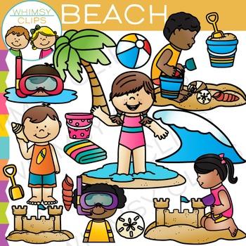 Summer at the Beach Clip Art