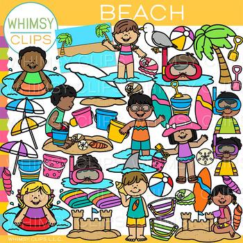 Day at the Beach Clip Art {Summer Clip Art}