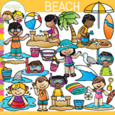 Summer at the Beach Clip Art