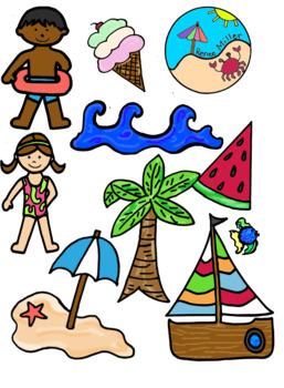 beach clip art by renee miller teachers pay teachers rh teacherspayteachers com clipart for teachers pay teachers creating clipart for teachers pay teachers