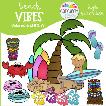 Beach Clip Art Colored