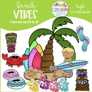 Beach Clip Art Colored