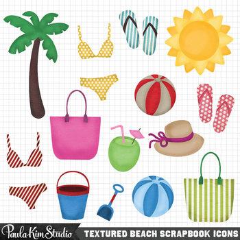 Beach Clip Art Summer Freebie