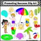 Beach Clip Art, Summer Clipart, Beach Theme Classroom Decor, Ocean Clip Art