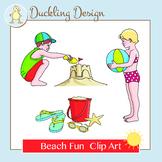 Beach Fun Clip Art Set