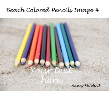 Beach Colored Pencils Bundle