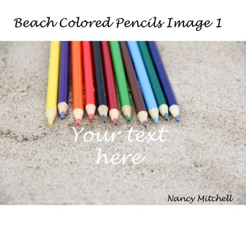 Beach Colored Pencils Image 1