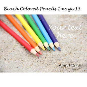 Beach Colored Pencils Image 13