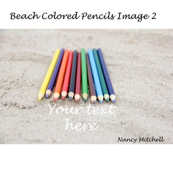 Beach Colored Pencils Image 2