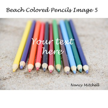 Beach Colored Pencils Image 5