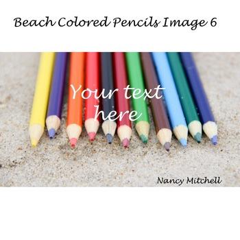 Beach Colored Pencils Image 6