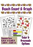 Beach Count & Graph  - Common Core Measurement & Data