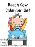 Beach Cow Calendar Set
