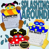 Summer Crafts   Pool Swimming Writing Activity   End of the Year Bulletin Board