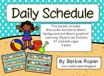Beach Daily Schedule