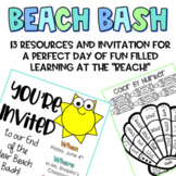 Beach Day End of the Year No Prep *reading, writing and math!*