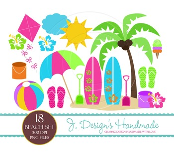 Beach Day Commercial Use Clipart