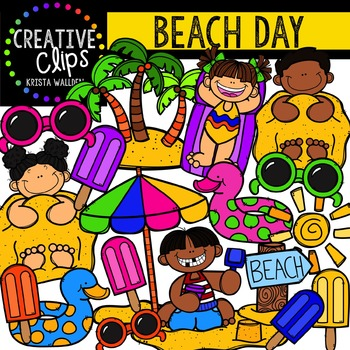 Beach Day {Creative Clips Digital Clipart}