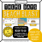 Beach Day Digital Activities for Kindergarten or Grade 1 -