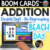 Beach Day Double-digit Addition No Regrouping Digital Task