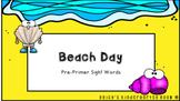 Beach Day! (Editable) Sight Word Template