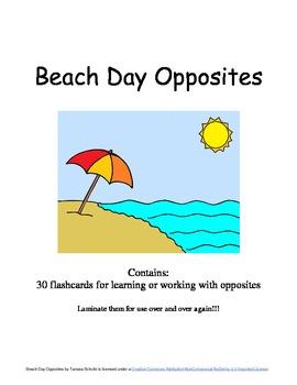 Beach Day Opposites