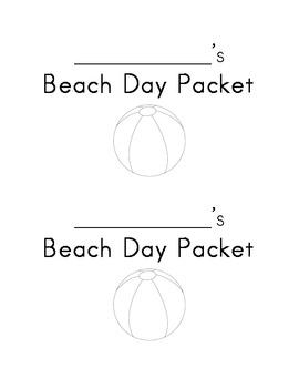 Beach Day Packet