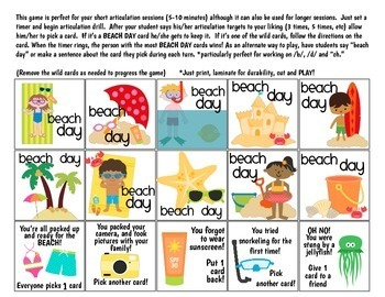 Beach Day Quick Drill {for any skill drill}