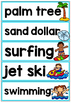 Beach Day Vocabulary Cards