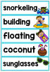 Beach Day Vocabulary Cards
