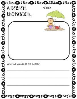 Beach Day Writing