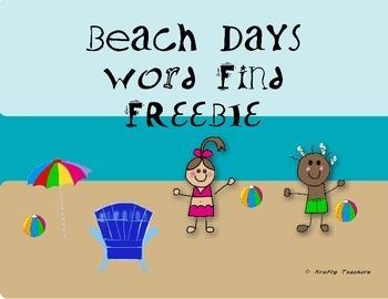 Beach Days ELA activity- FREEBIE