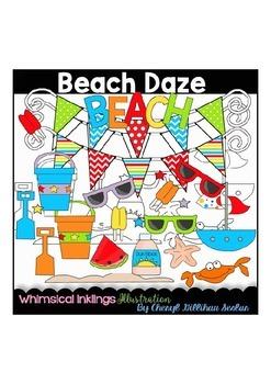 Beach Daze Clipart Collection