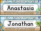 EDITABLE Name Tags Beach Theme | Classroom Decor EDITABLE