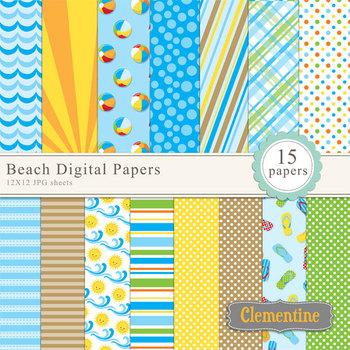 Beach Digital Papers