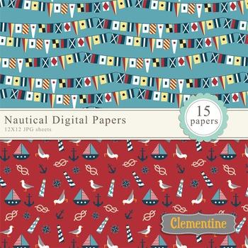Nautical Digital Papers