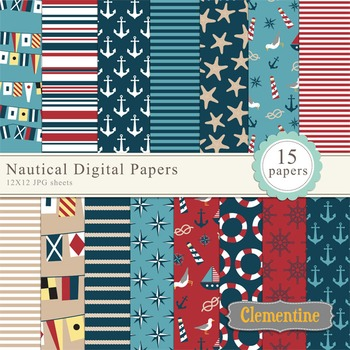 Nautical Digital Papers