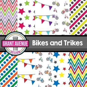 Bikes & Trikes Digital Papers
