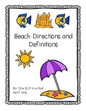 Beach Directions and Definitions