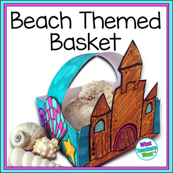 Beach Display Basket - For shells, pebbles and other beach finds .