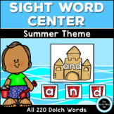 Beach Dolch Sight Word Centers