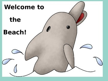 Beach Dolphin Welcome Sign