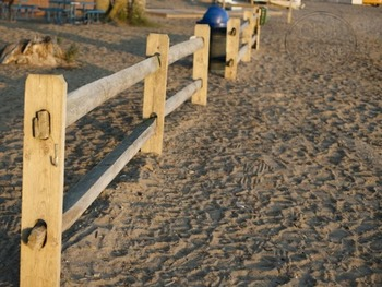 Beach Fence with Sand - for Personal and Commercial Use