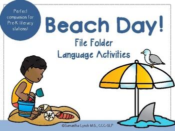 Beach File Folder Language Activities