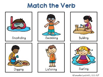 Beach File Folder Language Activities